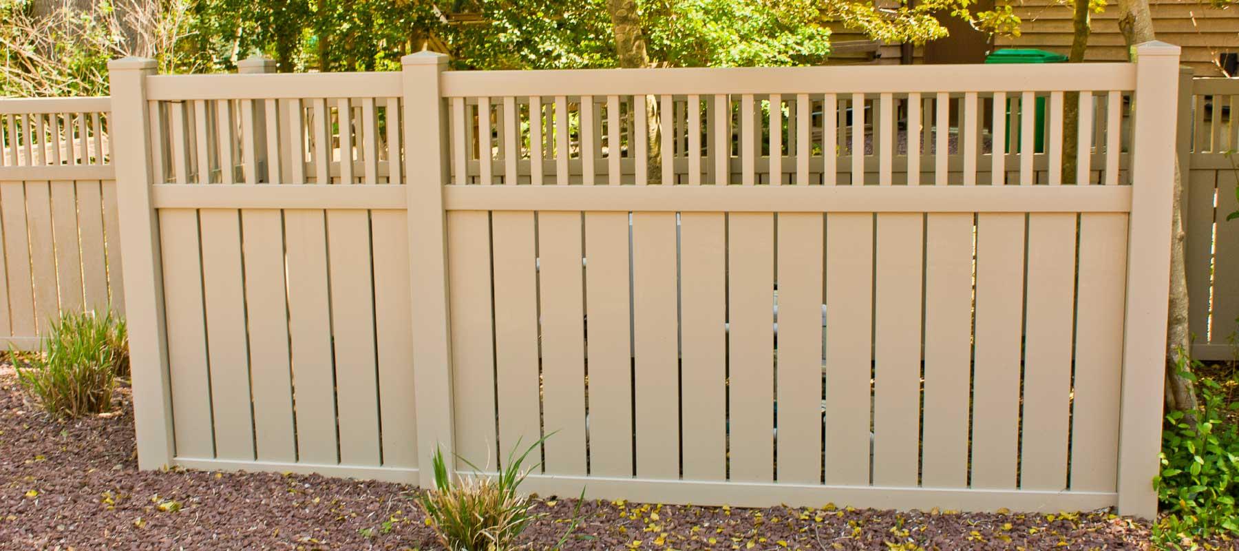 Montgomery vinyl semi privacy fence shoreline systems