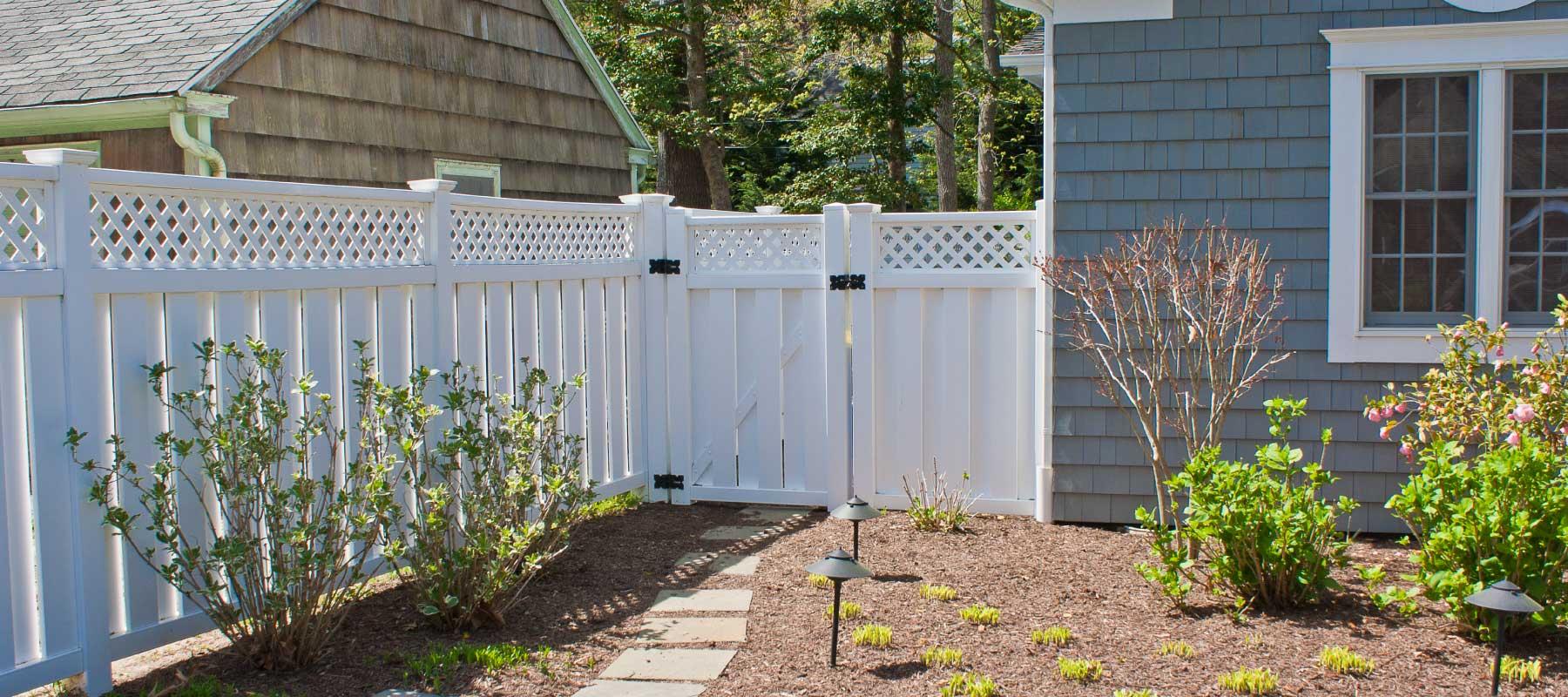 Norfolk Vinyl Semi Privacy Fence Shoreline Vinyl Systems