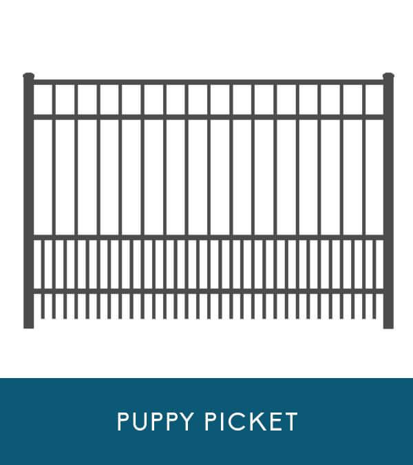 Bay Breeze aluminum fencing with puppy picket | Coastal Aluminum