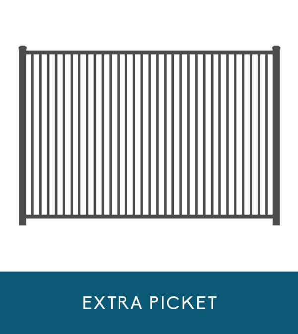 Oceanview aluminum fencing with extra picket   Coastal Aluminum