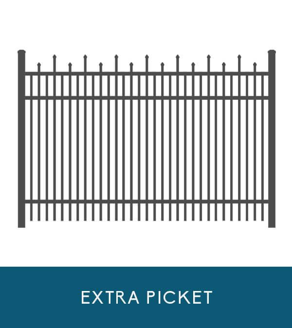 Wavecrest aluminum fencing with extra picket | Coastal Aluminum