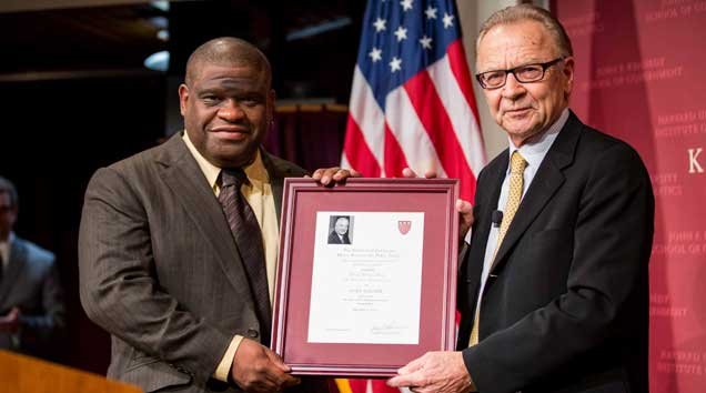 Gary Younge receives Nyhan Award