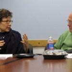 Deborah Amos and Shorenstein Center director Alex S. Jones.