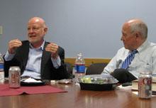 John Hamilton and Shorenstein Center director Alex S. Jones.