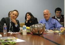 Jacob Weisberg and Shorenstein Center director Alex S. Jones.