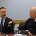 Greg Zuckerman and Shorenstein Center Director Alex S. Jones.