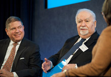Alberto Ibargüen, president and CEO of the Knight Foundation, and Vartan Gregorian, president of Carnegie Corporation.