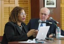 Cheryl Contee and Alex S. Jones, Shorenstein Center director.
