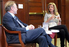 Thomas Patterson and Arianna Huffington.