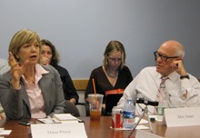 Dana Priest, The Washington Post, and Alex S. Jones, Shorenstein Center Director.