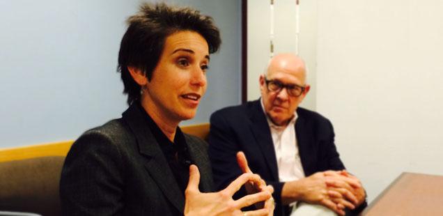 Amy Walter, Cook Political Report, and Alex Jones, Shorenstein Center