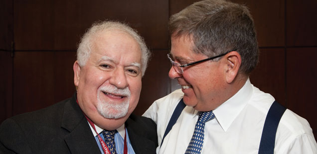 Vartan Gregorian, president of Carnegie Corporation, and Alberto Ibargüen, president and CEO of Knight Foundation