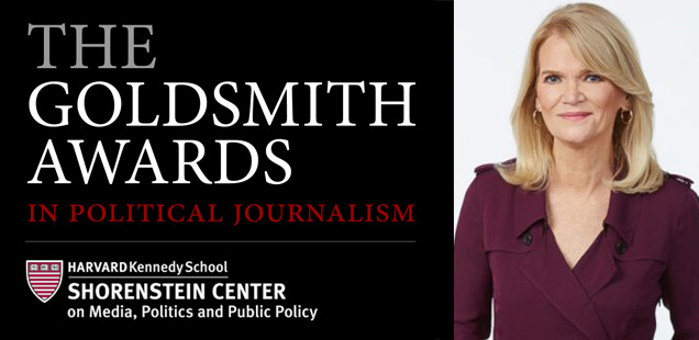 Goldsmith Awards Logo and Martha Raddatz