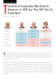 A mockup of the Reading the Polls feature in The Commons, showing a hypothetical article on polling about voters who have jumped back and forth between Trump and the Democrats.