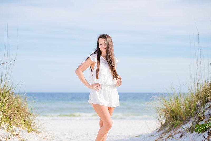 Senior Portraits Pensacola Beach Navarre Beach Photographer Perdido Key Beach Portraits Fort Pickens