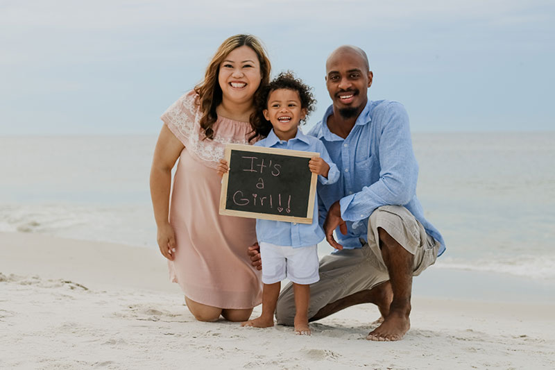 Gender Reveal Gulf Shores Photography Orange Beach Photographer Perdido Key Beach Portraits Destin Photos