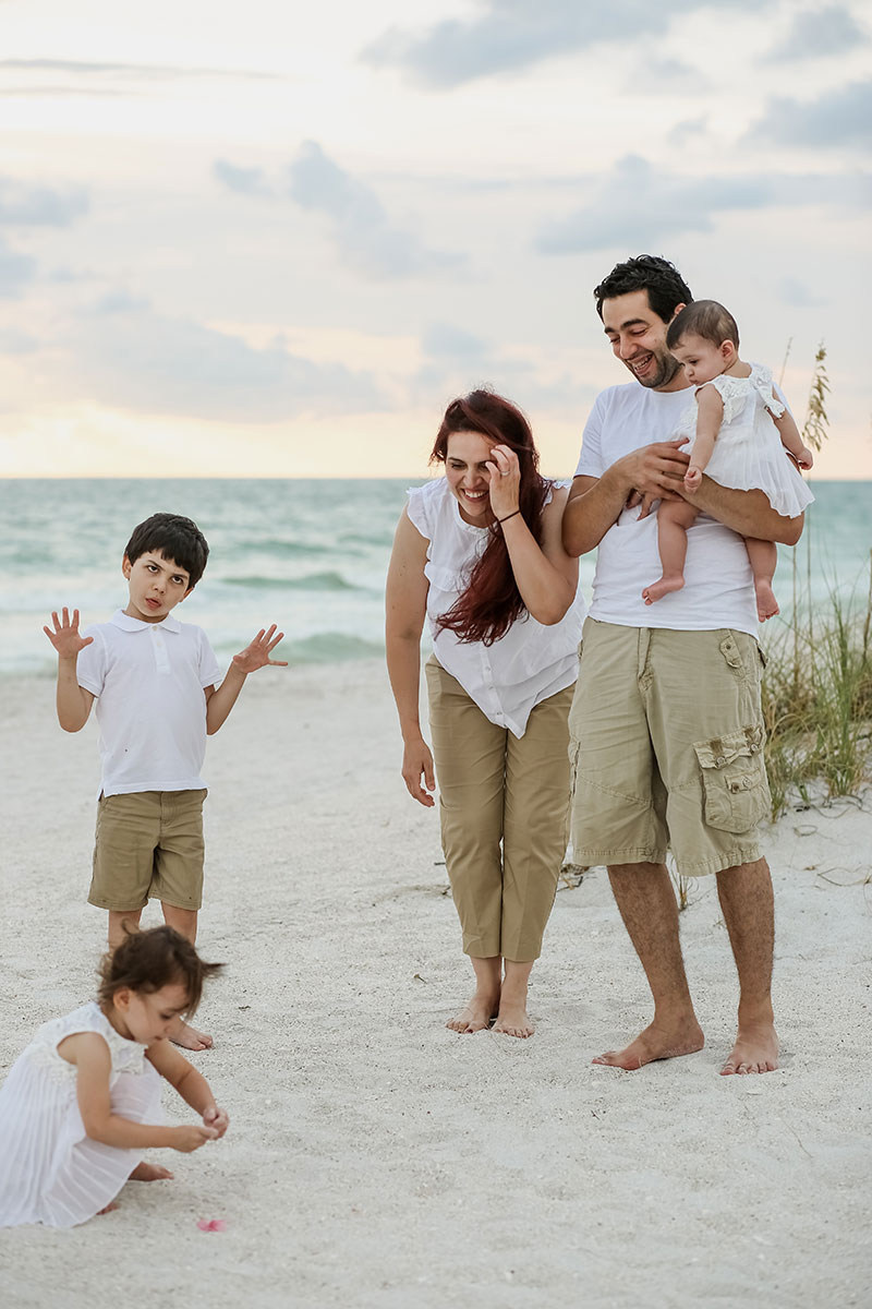 Family Beach Portraits Clearwater Beach Florida Photographer St. Pete Beach Madeira Beach Indian Rocks Beach