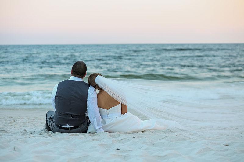 Sunset Wedding Orange Beach Wedding Photography Gulf Shores Wedding Photographer Beach Wedding Pictures