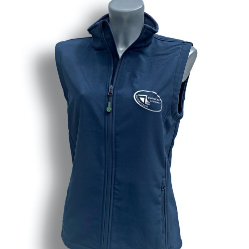 Front on Image of ShoreTees SUPwear Ladies Blue Recycled Gillet
