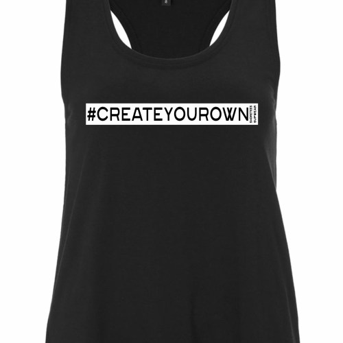 Ladies Black Create your own hashtag Vest