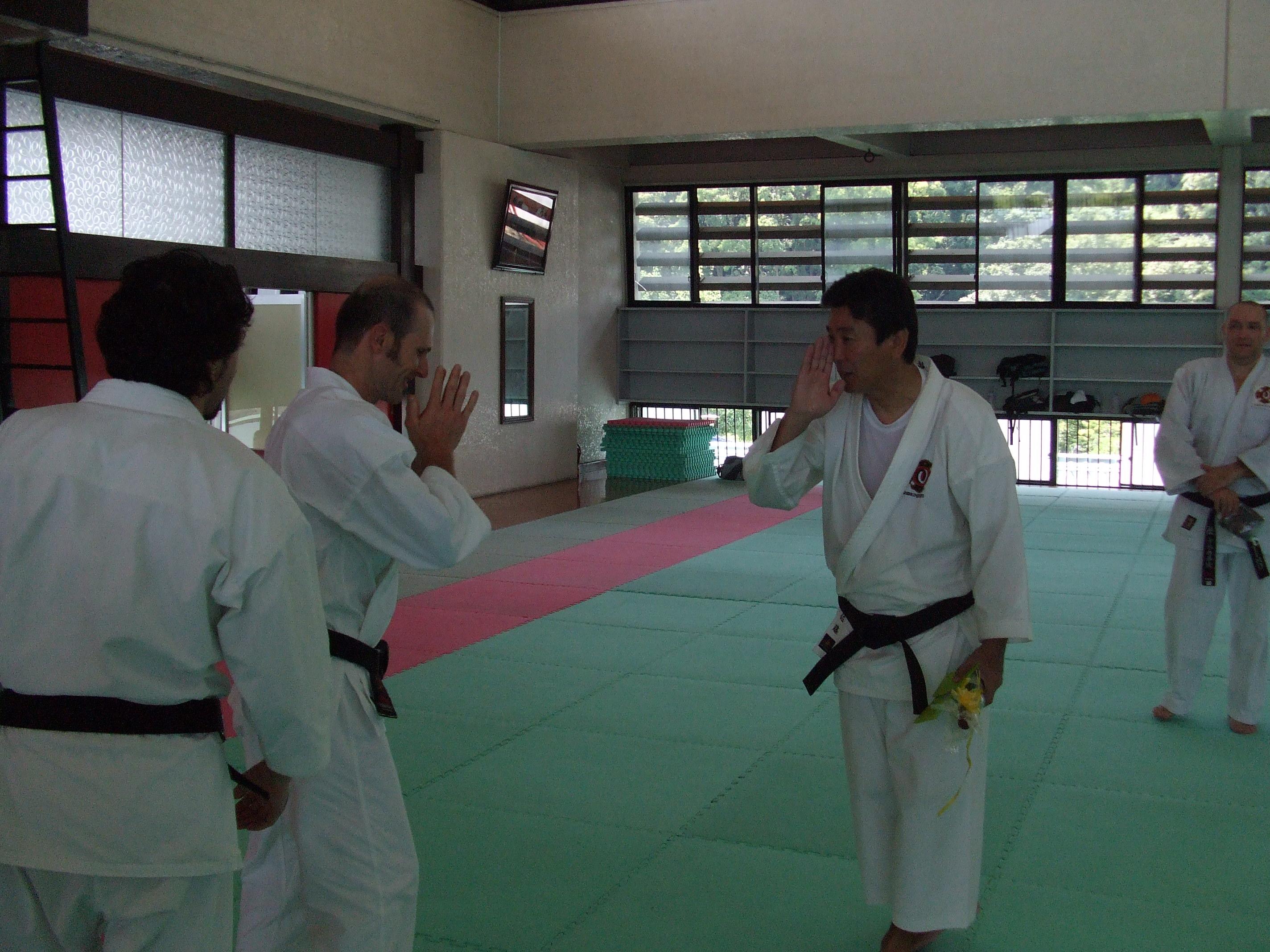 Con el maestro Sato (7º Dan)