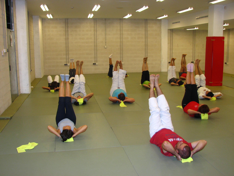 Los participantes se esforzaban en hacer correctamente los ejercicios