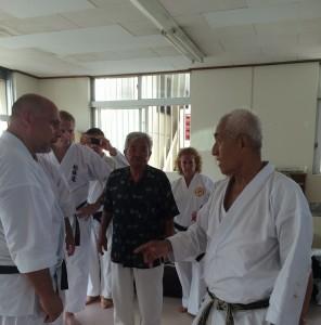 Tamaki Sensei and Makino Sensei Discussing Martial Imagination with Sensei Figgiani and Sensei Hogsette