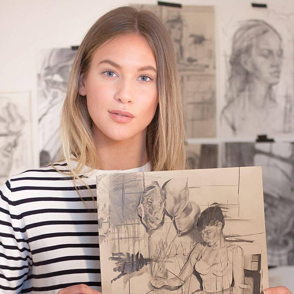 Swedish fashion model