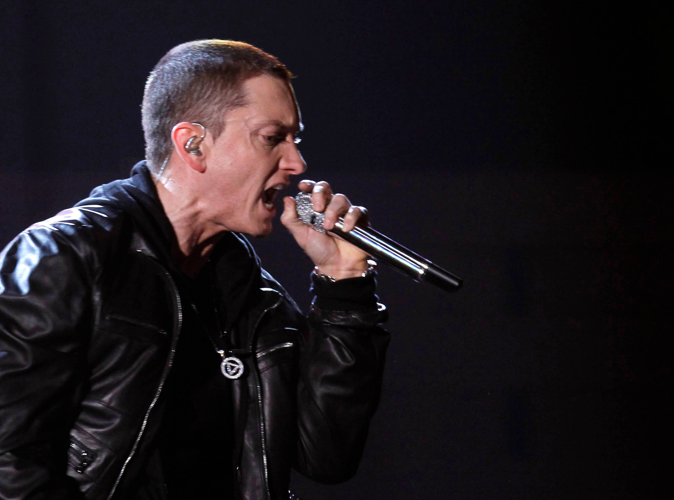 """Eminem performs """"I Need A Doctor"""" at the 53rd annual Grammy Awards in Los Angeles"""