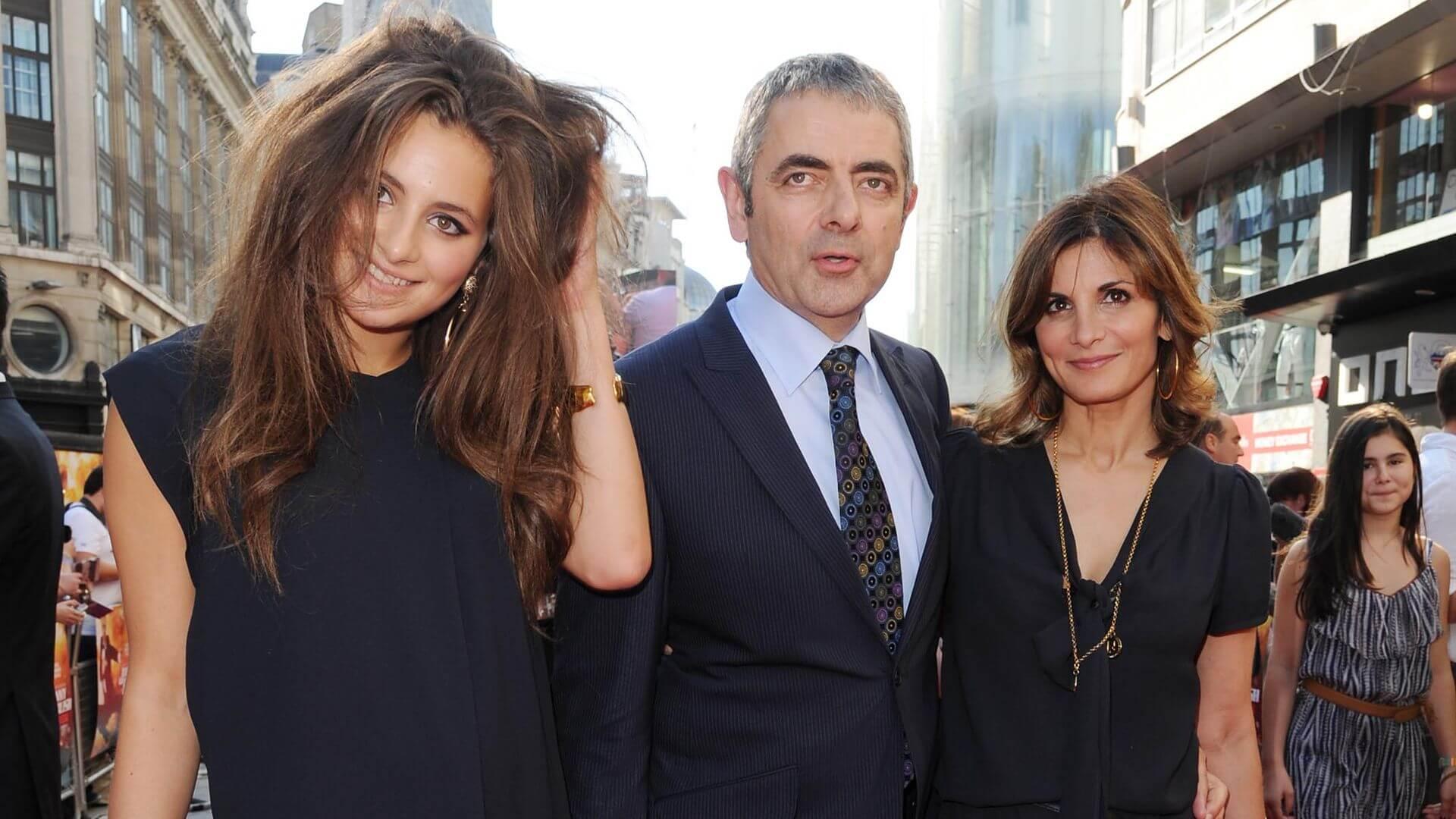 Rowan Atkinson Sunetra Sastry and Lily