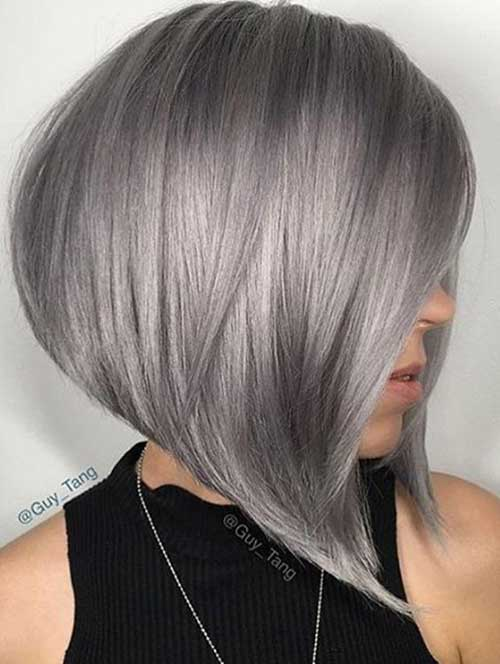 Grey Highlights On Natural Hair These Days Most Popular Short Grey Hair Ideas Short