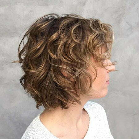 Curly Shag Fine Bob