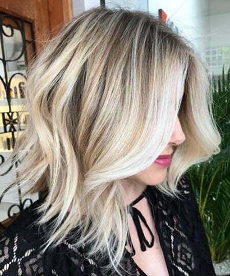 Blonde Balayage Choppy