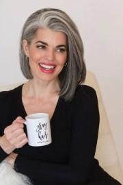 beautiful gray hairstyle - short