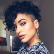 elegant natural curly short haircuts