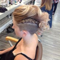 Braided Mohawk easy updos for short hair to do yourself 3 ...