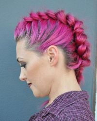 Braided Mohawk easy updos for short hair to do yourself 5 ...