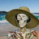 Skeleton at the beach (Your Body Is The Temple)