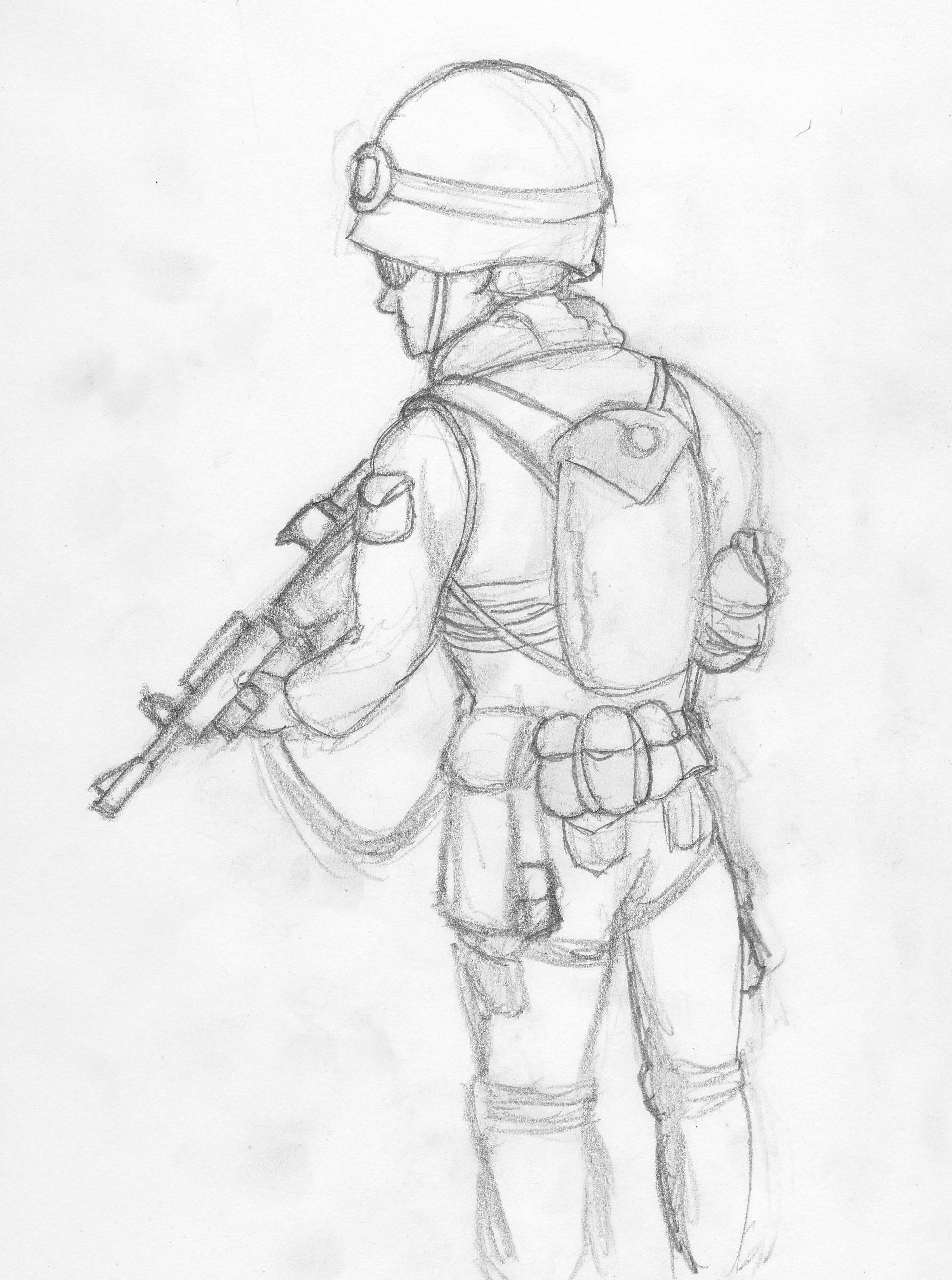 Army Man Sketch