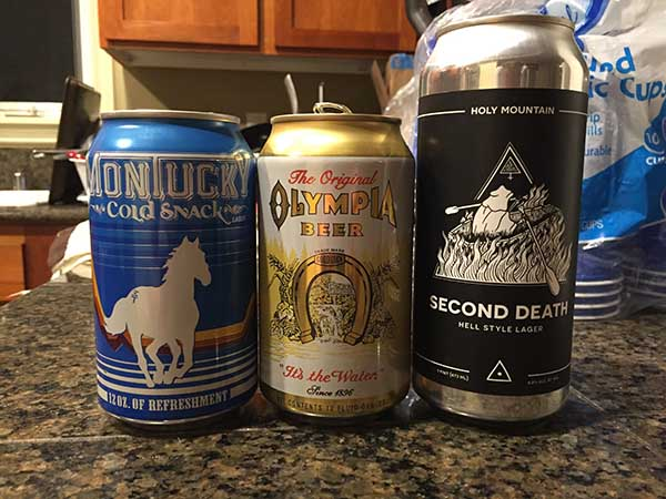 Blind lager taste test