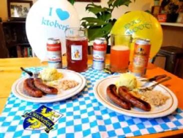 Oktoberfest beers with german influenced food
