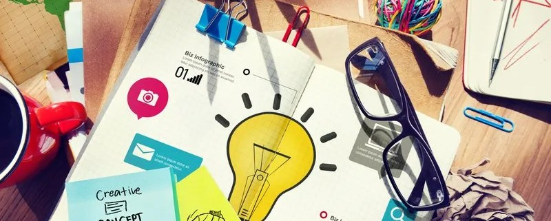 Marketing consulting business with infographics