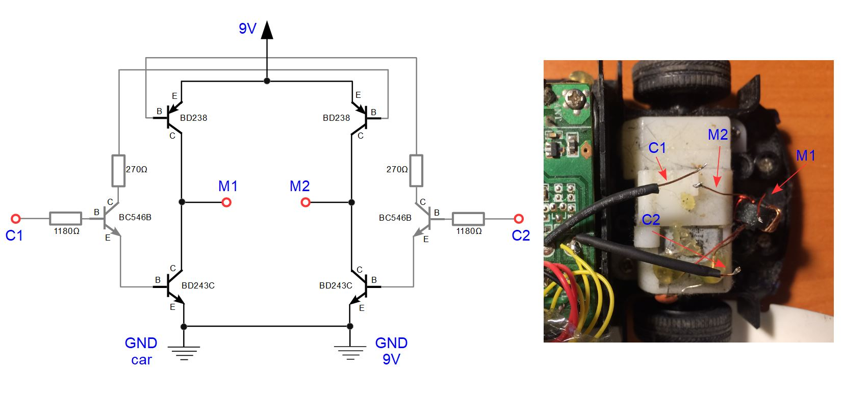 hight resolution of wiring of an h bridge