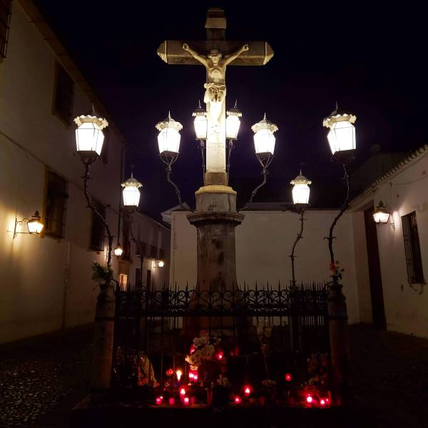 "Christ of the lanterns - Plaza de los ""Capuchinos"""