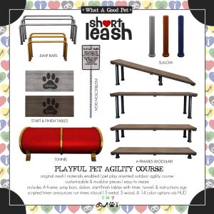 Short Leash Playful Pet Agility Course ad