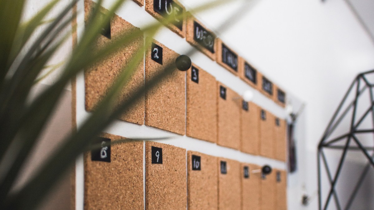 empty wall calendar