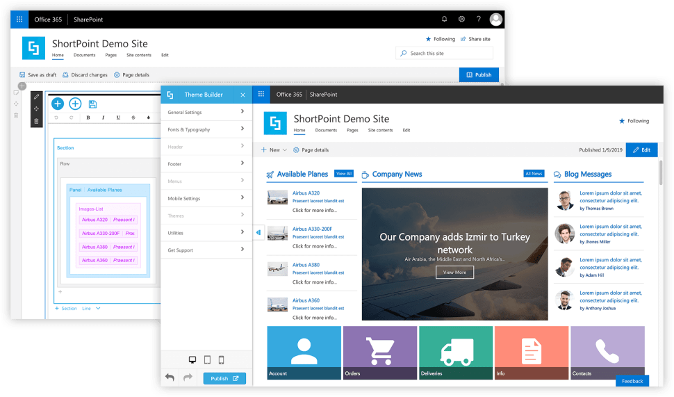 Modern SharePoint Pages Support In ShortPoint