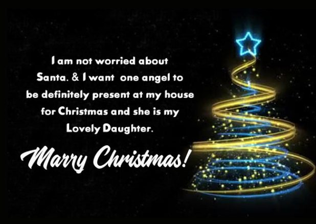 Merry Christmas Greetings for Daughter from Dad