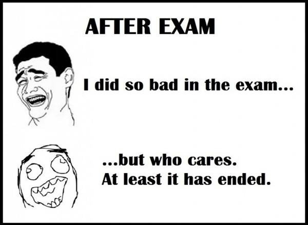 Funny Exam Status, Captions for Exam Time & Exam Over Status