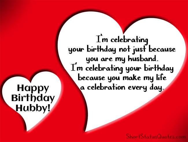 birthday status for husband